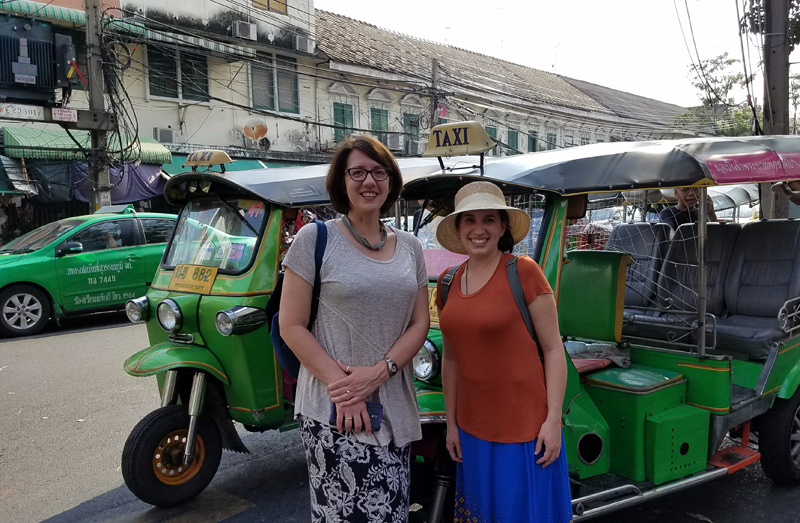 Goway Prize Winner: Travel agent Corinne Stevenson (pictured right) & her friend Amy in Thailand