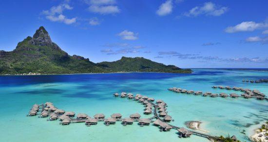 Bora Bora Resort with a view of Mt. Otemanu