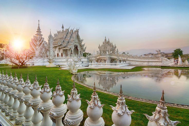 Wat Rong Khun in Chiang Rai Province, Northern Thailand
