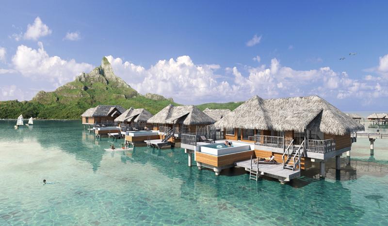 Bora Bora Resort Overwater Pool Villas