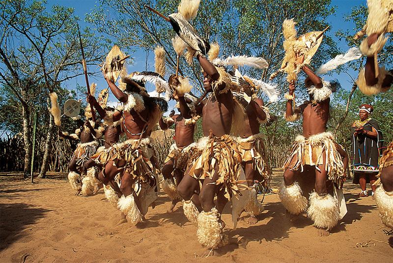 Zulu dancers in Zululand