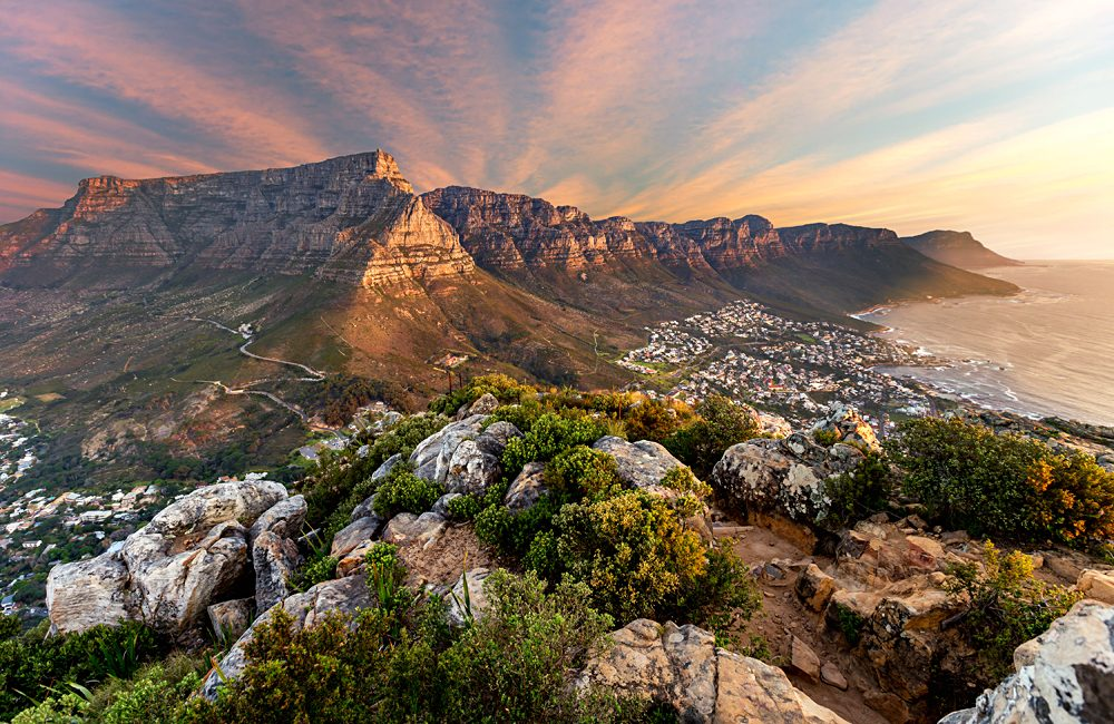 Table Mountain sunset, Cape Town, South Africa