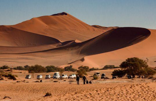 Namib desert, red dune Dune 45 and Big Mama at Sossusvlei, Namibia