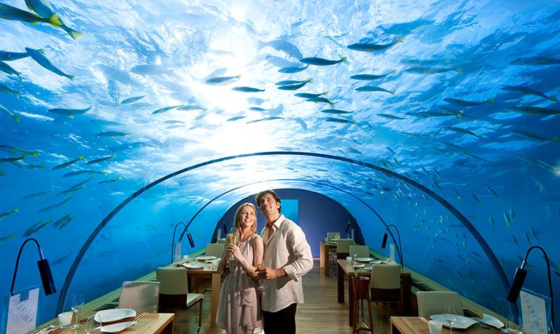 Underwater Restaurant at Conrad Maldives